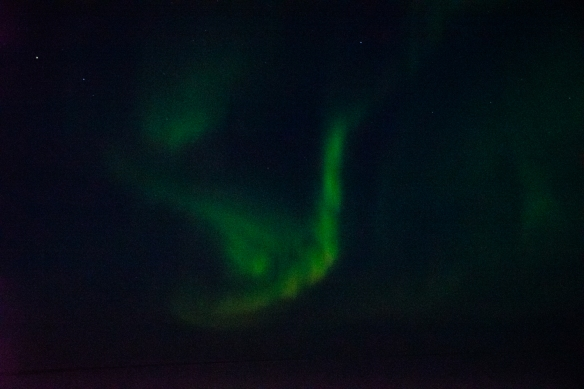 Aurora Borealis #4, photographed from the deck of our ship after sunset in Nunavut, approximately 70 degrees North Latitude, Canada (in the Northwest Passage)