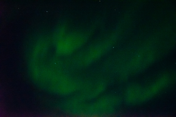 Aurora Borealis #6, photographed from the deck of our ship after sunset in Nunavut, approximately 70 degrees North Latitude, Canada (in the Northwest Passage)