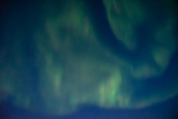 Aurora Borealis #8, photographed from the deck of our ship after sunset in the Northwest Territories, approximately 70 degrees North Latitude, Canada (in the Northwest Passage)