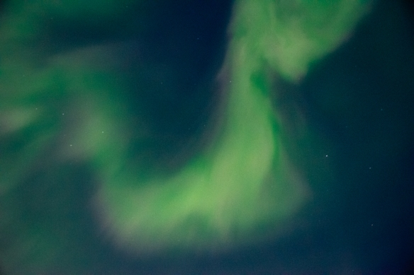 Aurora Borealis #9, photographed from the deck of our ship after sunset in the Northwest Territories, approximately 70 degrees North Latitude, Canada (in the Northwest Passage)