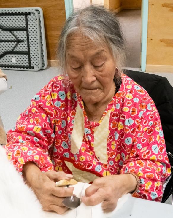 Inuit (local face #3) from Ulukhaktok, Victoria Island, Northwest Territories, Canada