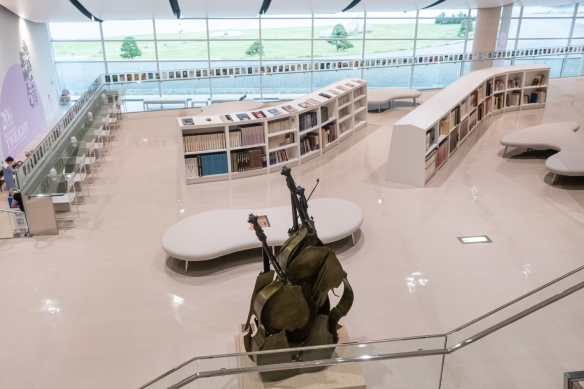 Shimane Art Museum #2, Matuse, Shimane Prefecture, Honshu Island, Japan – the mezzanine art library is open to the public