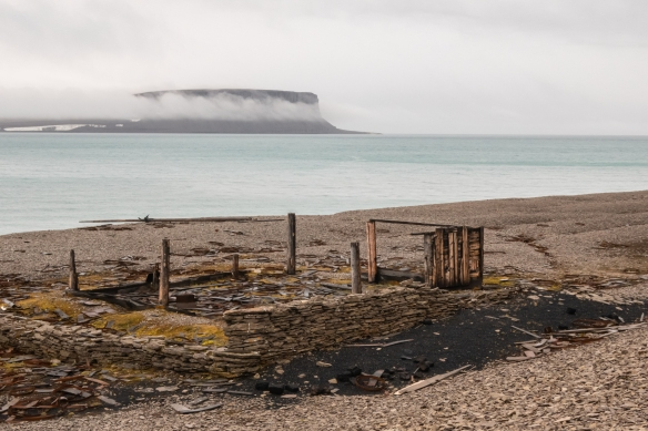 The weather-worn remains of the 1854 Northumberland House built by the crew of one of the search ships, optimistically stocked in case any of the lost men from the Franklin Expedition of 1845 found their way back