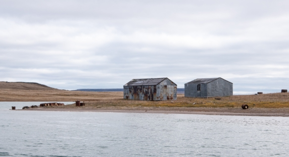 While Johansen Bay is presently uninhabited, there are remains of old hunting sheds and a former farm along the Nakyoktok River waterway, Victoria Island, Nunavut, Canada