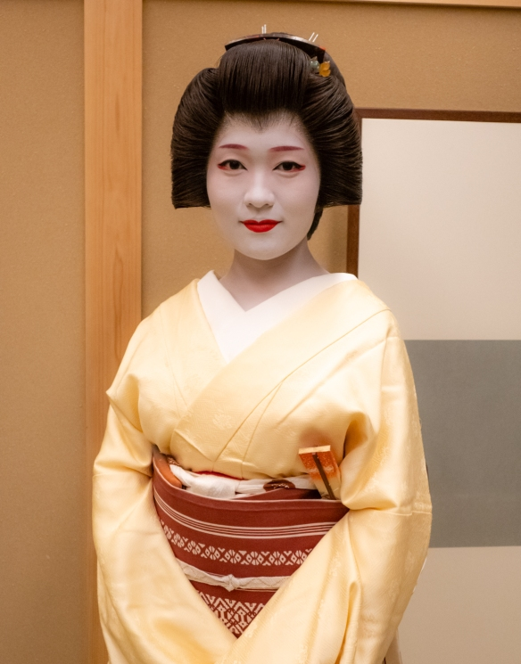 A young Geisha performed several traditional dances for us, Kyoto, Honshu Island, Japan -- #2