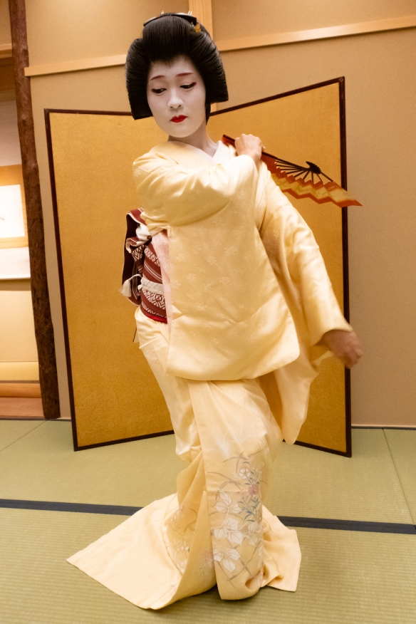 A young Geisha performed several traditional dances for us, Kyoto, Honshu Island, Japan -- #3
