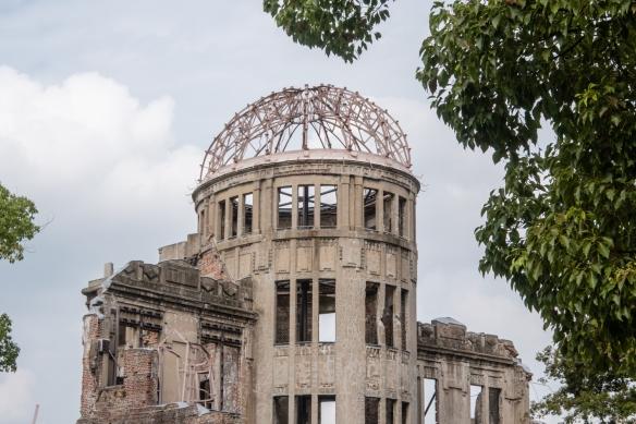 """No one else should ever suffer as we have"" (the ruins of Genbaku Dome), Hiroshima Peace Memorial Park, Honshu Island, Japan"
