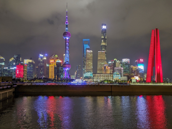 Here are the most significant tall buildings of the newer Pudong district on the east side of the Huangpu River, the tallest being the 632 meter (2,073 feet) Shanghai Tower, Shanghai, China