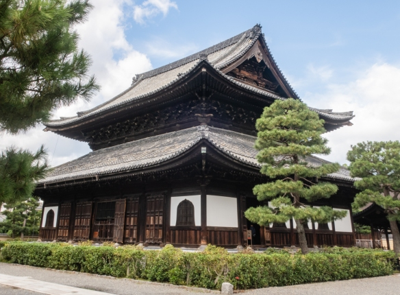 "Kennin-ji is a historic Zen Buddhist temple in Higashiyama, Kyoto, Japan, near Gion and is considered to be one of the so-called Kyoto Gozan or ""five most important Zen temples of Kyoto"", Honshu Island, Japan----"
