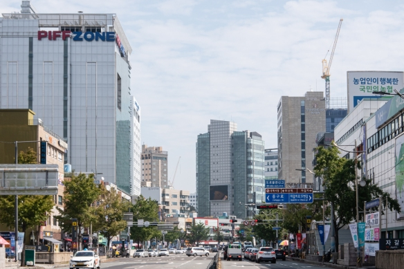 One of the main streets in Busan, South Korea, the country's second-largest city and one of Lonely Planet's top cities to visit in Southeast Asia a year ago