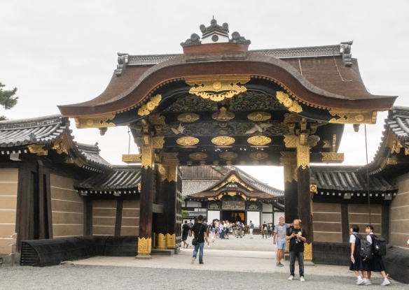 The outer gate of Nijo-jo Castle, a UNESCO World Cultural Heritage Site, leading to rooms that witnessed some of the most important events in Japanese history in the 400 years since it was built (no photographs were allowed inside)