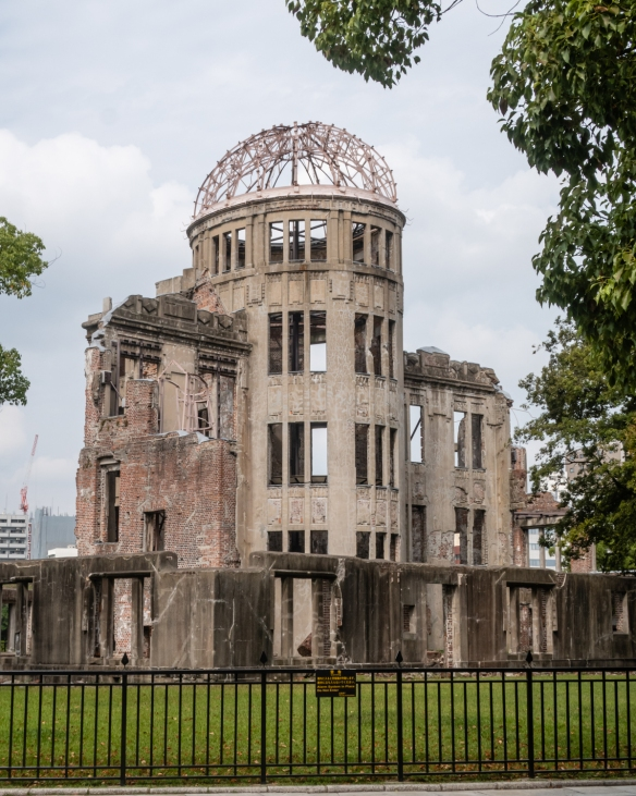 The ruins of Genbaku Dome, one of the few buildings that was left standing near ground zero of the August 6, 1945 atomic bomb detonation over Hiroshima, named as a UNESCO World Heritage Site in 1996; Honshu Island, Japan