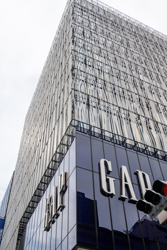 Tokyo architecture walk, Honshu Island, Japan #2 – Gap building in the Ginza district
