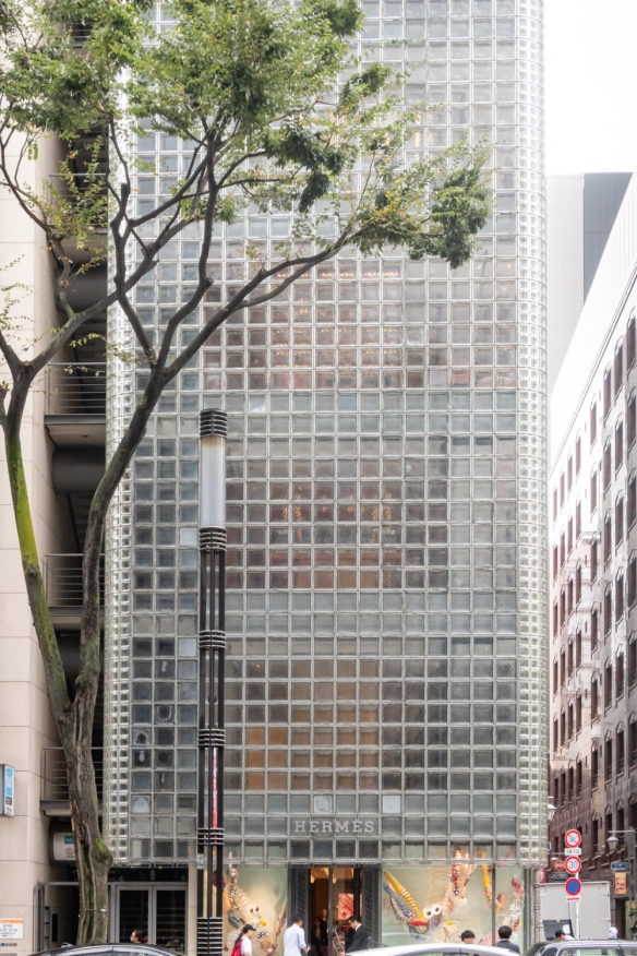 Tokyo architecture walk, Honshu Island, Japan #3 – Maison Hermès building in the Ginza district, designed by Renzo Piano, 1998-2001