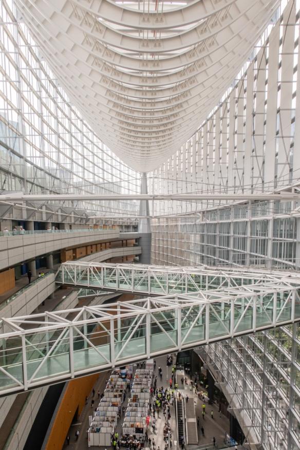 Tokyo International Forum, Tokyo, Honshu Island, Japan #10 -- Footbridges link the sides of the lobby building of Tokyo International Forum