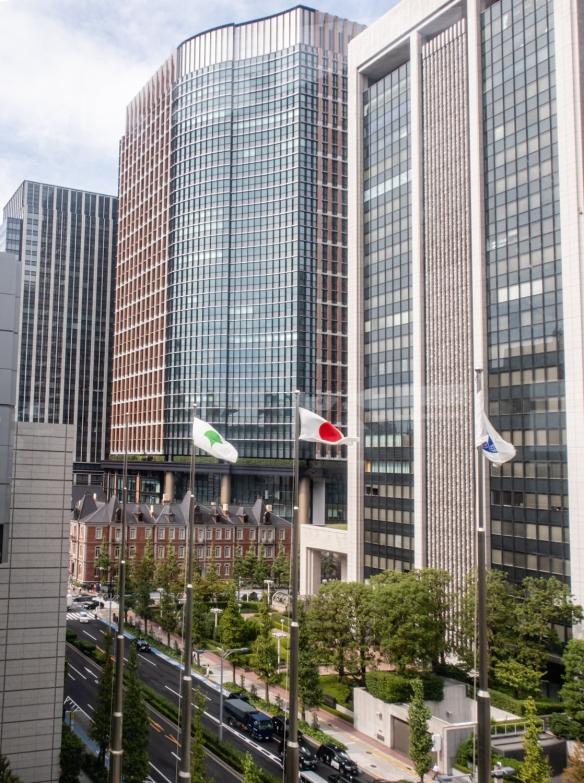 Tokyo International Forum, Tokyo, Honshu Island, Japan #8 – looking out the windows at adjacent skyscrapers downtown