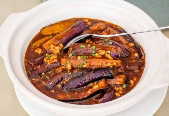 Eggplant with Pork, Yuan Yuan Resuarant, French Concession, Shanghai, China