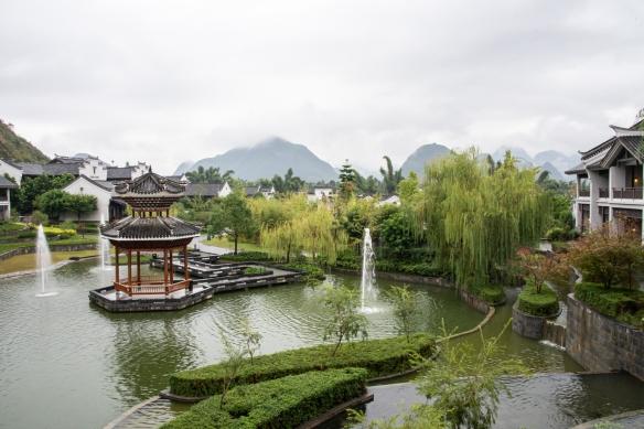 Karst mountains seen from the Banyan Tree Yangshuo Resort, Yangshuo (near Guilin), Guangxi, China #1