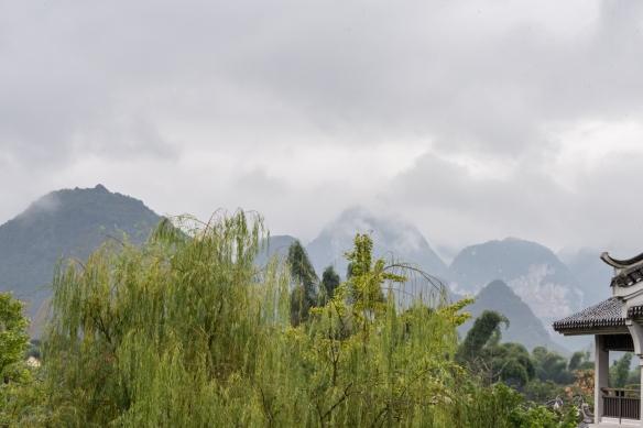 Karst mountains seen from the Banyan Tree Yangshuo Resort, Yangshuo (near Guilin), Guangxi, China #2
