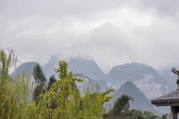 Karst mountains seen from the Banyan Tree Yangshuo Resort, Yangshuo (near Guilin), Guangxi, China #5