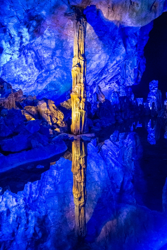 """Reed Flute Cave, Guilin, Guangxi, China #7 -- this large room is known as the """"Crystal Palace"""""""