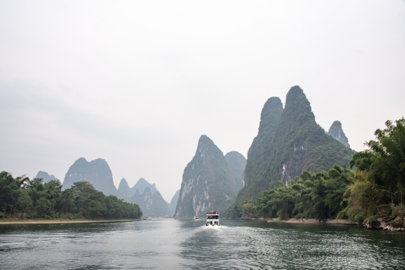 The karst mountains of Guilin, seen from the Li River (or Li Jiang), photographed on our river boat cruise from Guilin south to Yangshuo, Guangxi, China #10