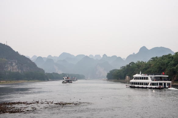 The karst mountains of Guilin, seen from the Li River (or Li Jiang), photographed on our river boat cruise from Guilin south to Yangshuo, Guangxi, China #2