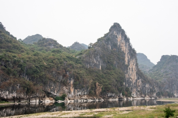 The karst mountains of Guilin, seen from the Li River (or Li Jiang), photographed on our river boat cruise from Guilin south to Yangshuo, Guangxi, China #4
