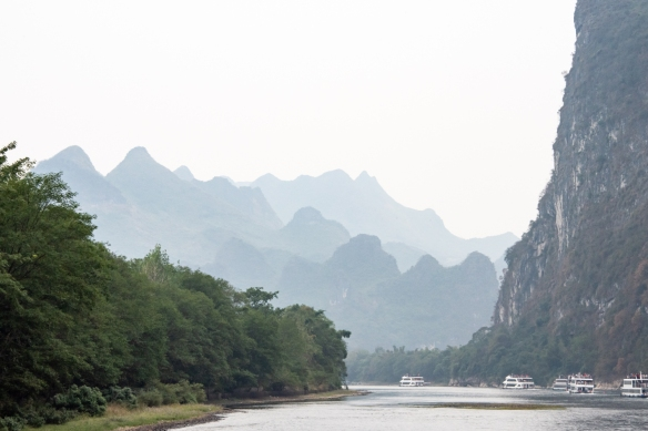 The karst mountains of Guilin, seen from the Li River (or Li Jiang), photographed on our river boat cruise from Guilin south to Yangshuo, Guangxi, China #5
