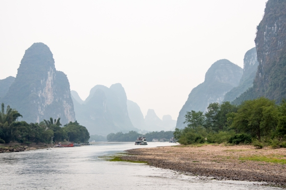 The karst mountains of Guilin, seen from the Li River (or Li Jiang), photographed on our river boat cruise from Guilin south to Yangshuo, Guangxi, China #7