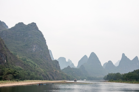 The karst mountains of Guilin, seen from the Li River (or Li Jiang), photographed on our river boat cruise from Guilin south to Yangshuo, Guangxi, China #8