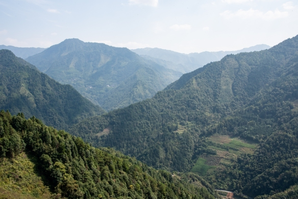 The view of the mountains as we descended back toward Guilin from Huangluo Yao Village at the foot of the Longsheng rice terraces scenic area; China