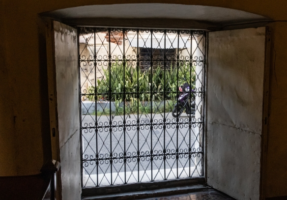 A view of the street from Syquia Mansion in Vigan, Philippines