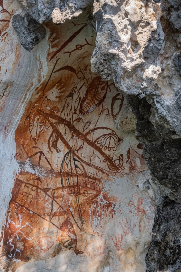 Rock art at Misool, Raja Ampat, Indonesia (~3,000 years old) #4--PHOTO --
