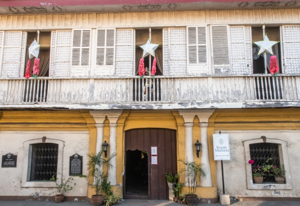 Syquia Mansion in Vigan, Philippines, is a 19th-century mansion, owned by Doña Alicia Syquia Quirino, who was married to former Philippines President Elpidio Quirino