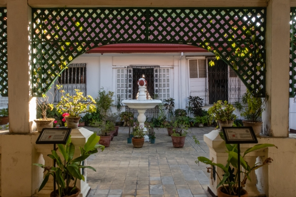 The rooftop garden at Syquia Mansion in Vigan, Philippines