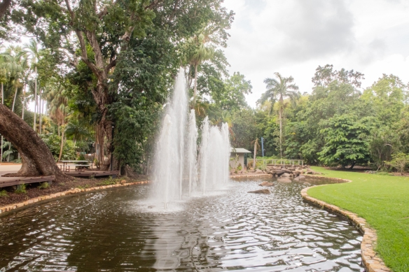 George Brown Botanical Gardens, Darwin, Australia #1; fountains in the lily pond