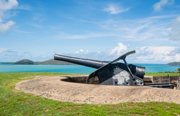 Green Hill Fort, Thursday Island, Torres Strait Islands, Queensland, Australia #2; one of the original guns in the fort from the 1890s