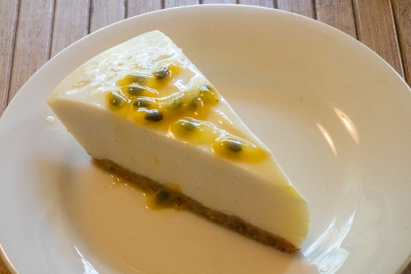 Our main desert was Susie's recipe and homemade Guanabana cheesecake with Passionfruit the Botanical Ark, Port Douglas, Queensland, Australia
