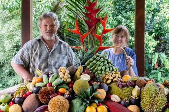 The developers and owners, Susan and Alan Carle, of the Botanical Ark in the Daintree Rainforest, north of Mossman and Port Douglas, Queensland, Australia, met us when we arrived
