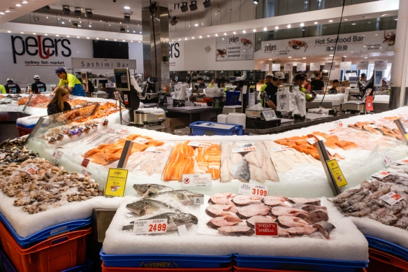Our favorite seafood retailer at the Sydney Fish Market is Peter's Sydney Fish Market; Sydney, New South Wales, Australia