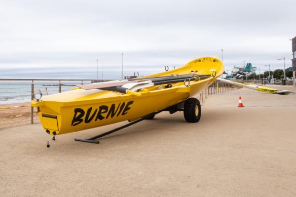 The Burnie Beach rescue boat, Burnie, Tasmania, Australia